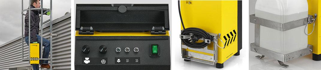 Rökgassimulator för täthetskontroll och läckagelokalisering i konstruktioner med plana tak